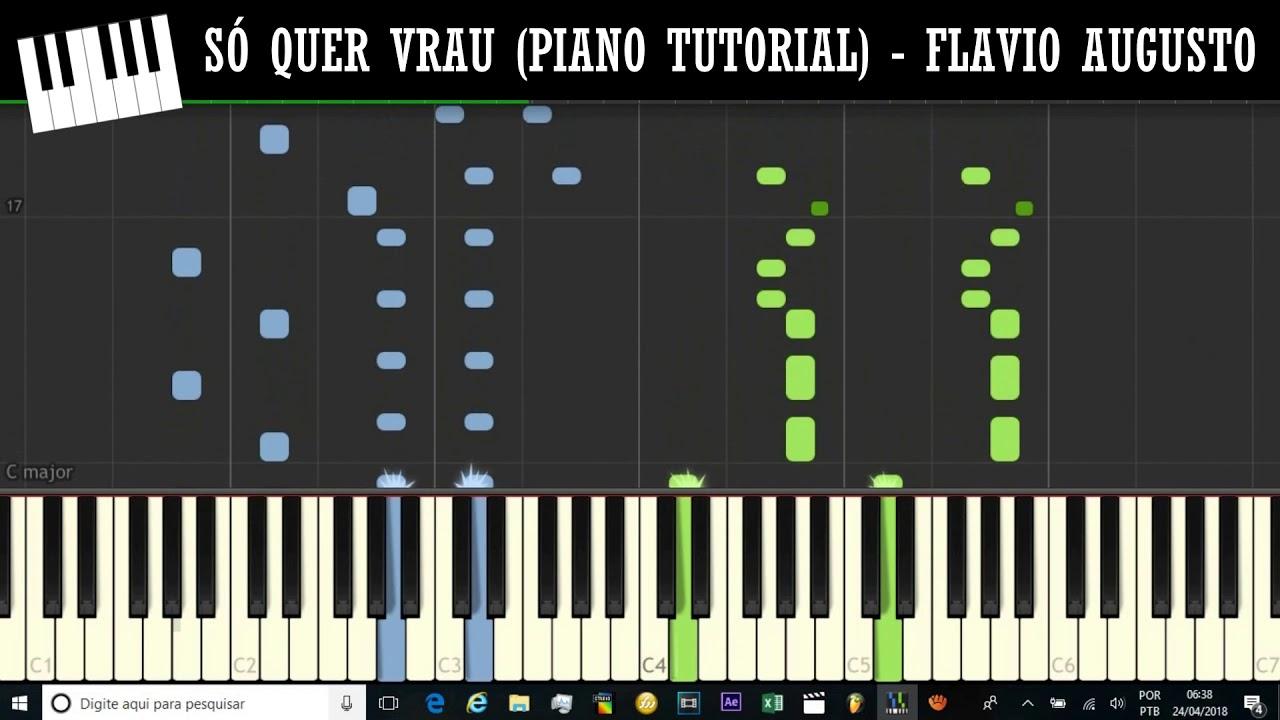 Como Tocar Mc Mm So Quer Vrau Piano Tutorial Youtube