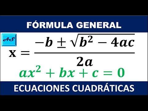 Ecuaciones Cuadraticas Por Fórmula General Ejemplos Resueltos Youtube