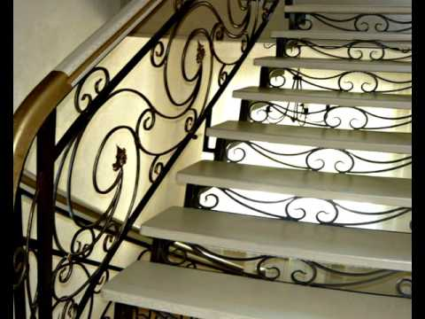 Перила 92  Лестница из металла для дома Днепропетровск фото кованые перила Днепр изготовление