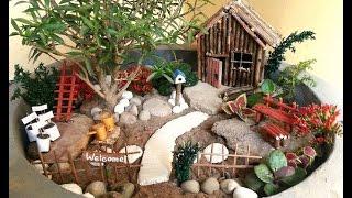 Миниатюрный сад своими руками. #Мастер-класс.