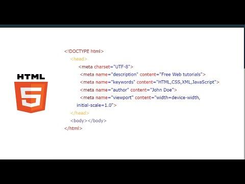 HTML Meta Tags | HTML  Metadata  | HTML Beginners Tutorials #4