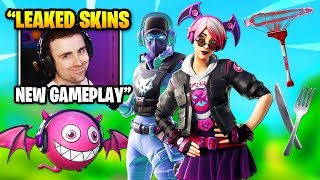 DrLupo Shows Gameplay Of *NEW* LEAKED SKINS, PICKAXES & GLIDERS | Fortnite Daily Funny Moments