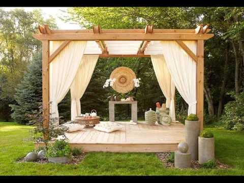 Pergola Curtains Design Ideas, Pictures - YouTube