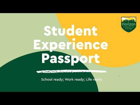 Student experience passport