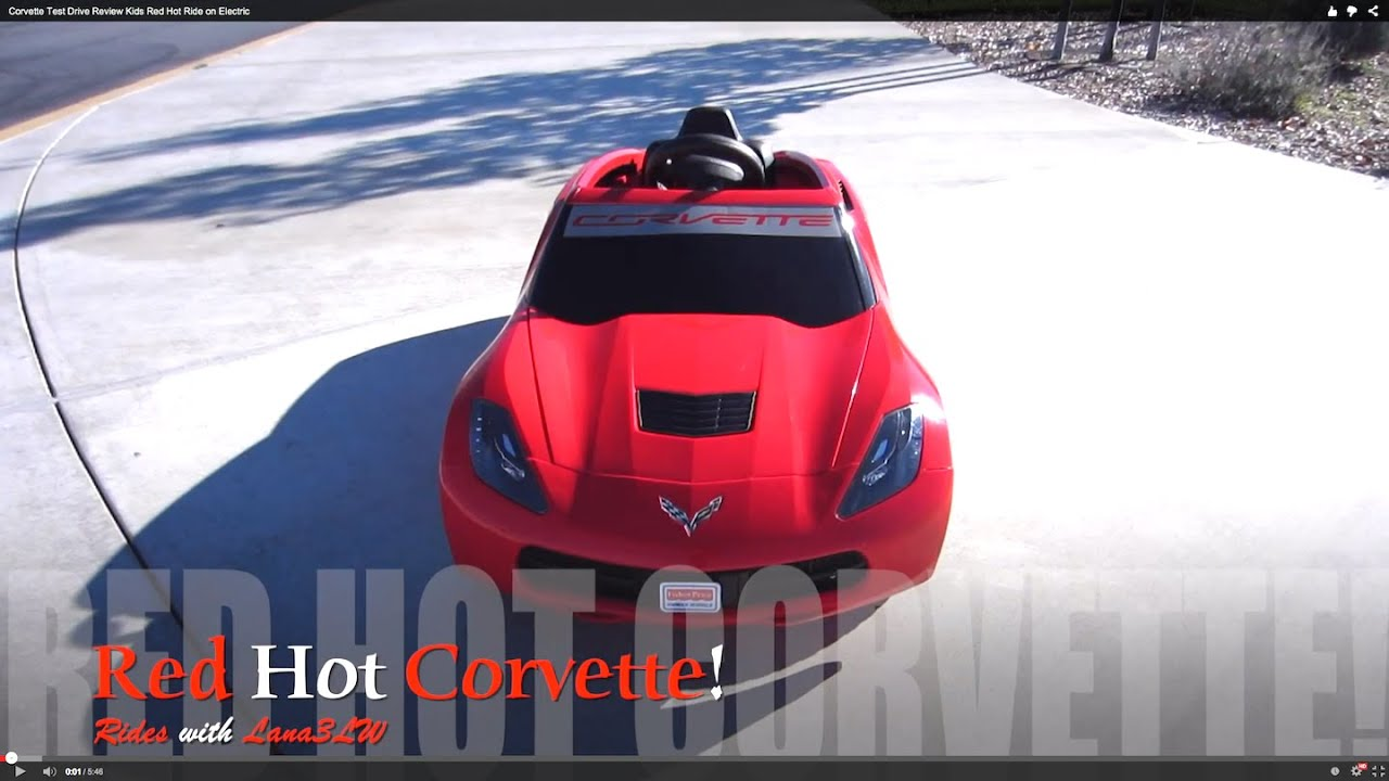 Kids Best Popular Red Corvette Electric Car Review And Test Drive