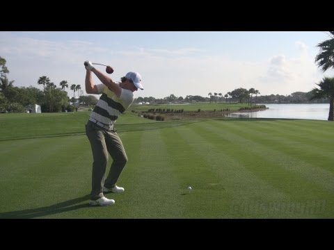 GOLF SWING 2013 - RORY MCILROY DRIVER - PERFECT DTL DRAW STANCE & BALL FLIGHT - REG & SLOW MOTION HD