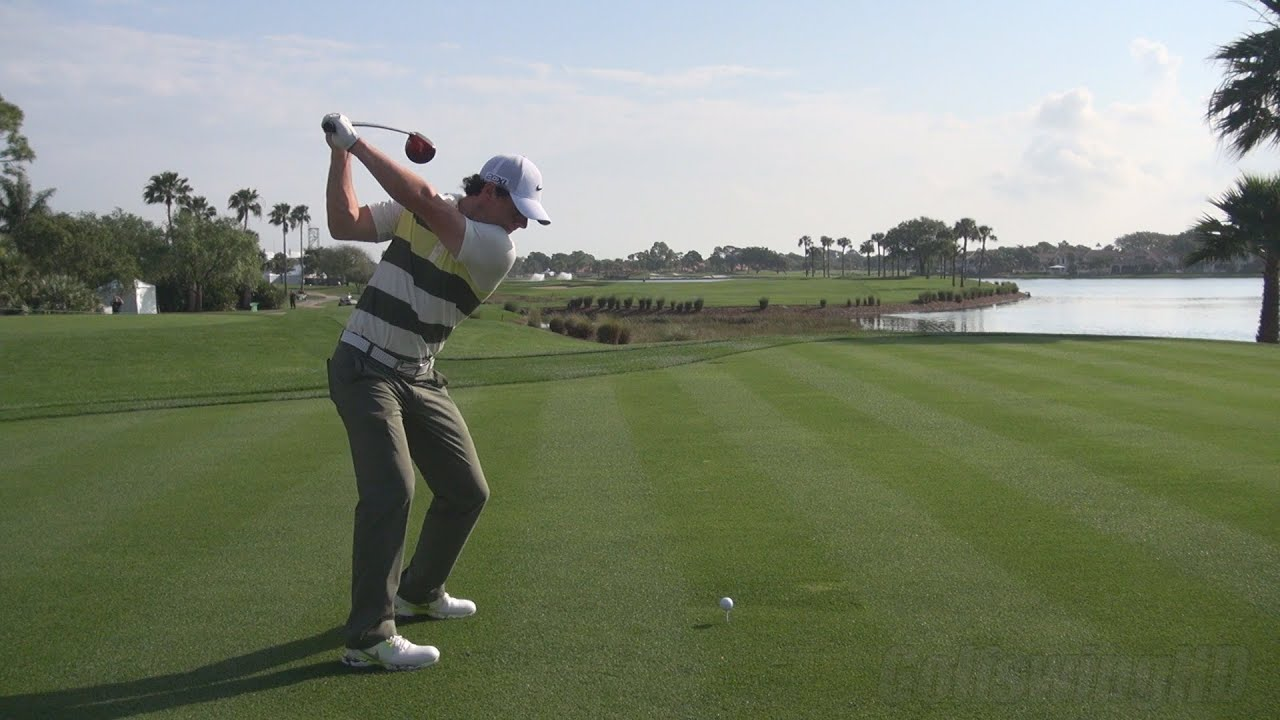GOLF SWING 2013 - RORY MCILROY DRIVER - PERFECT DTL DRAW STANCE ...