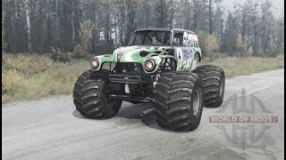 | Grave Digger | Spintires Mudrunner American Wilds Gameplay MODS#4