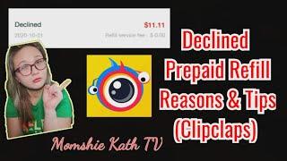 Clipclaps : DECLINED PREPAID REFILL | Update | Momshie Kath TV screenshot 5