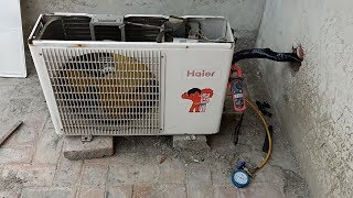 Air conditioner High ampere & high gas pressure sowing - How To Check AC Fault