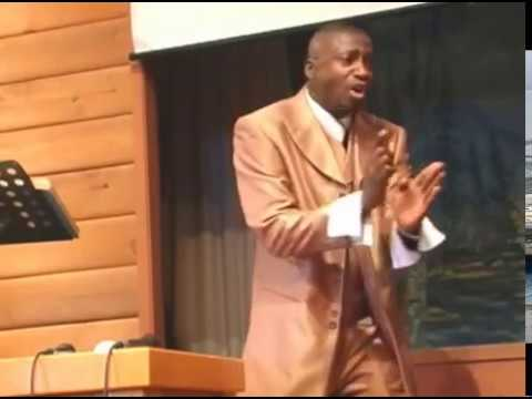 Pastor Didier preaching about going in peace (Maranatha , Vancouver BC)