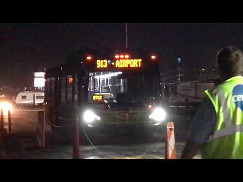 Syracuse Centro Bus 913 arriving at New York State Fairgrounds in Syracuse, NY 9-3-2018