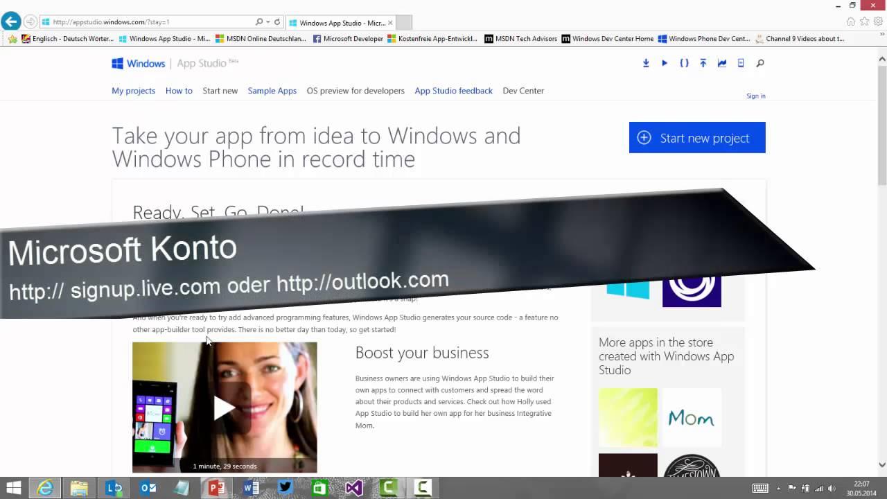 Was ist Windows App Studio?