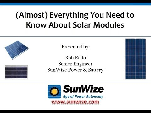 Almost Everything you Need to Know About Solar Modules
