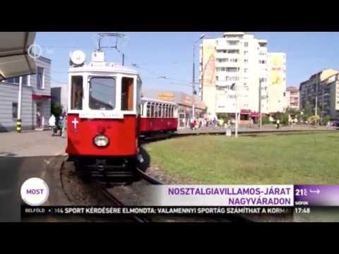 Nosztalgiavillamos indult a száztíz éves nagyváradi villamosközlekedés tiszteletére