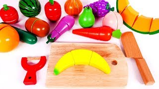 Learn Colors with Yippee Toys and Cutting Fruit and Vegetables for Children