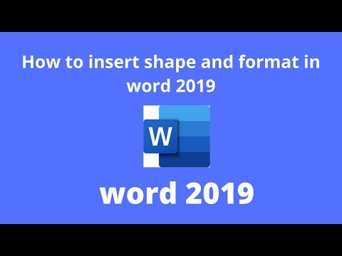 Word 2019 - insert shape- how to insert Shape and format in MS Microsoft word