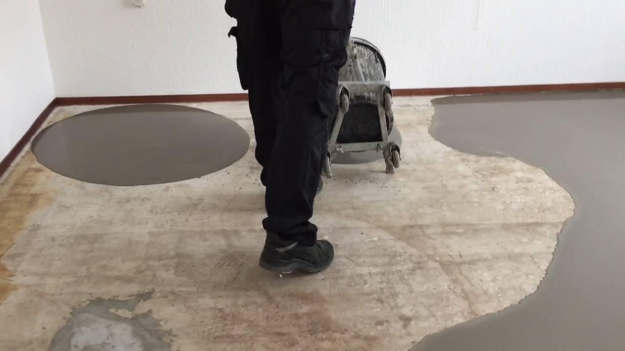 Zo maken wij gladde vloeren. egaliseren voor een te leggen pvc vloer