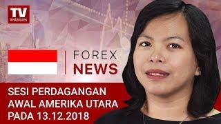 InstaForex tv news: 13.12.2018: Ditengah perkiraan yang melemah, para trader menjual USD: USD, EUR/USD