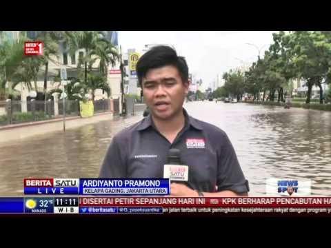 Banjir Kelapa Gading, Air Mulai Surut