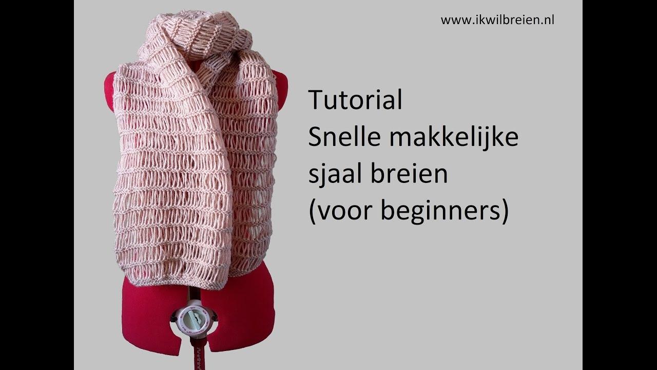 Snelle Makkelijke Sjaal Breien Tutorial Voor Beginners Youtube