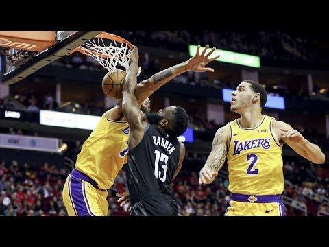 James Harden Dunks on McGee! 50 Pts Triple Double! 2018-19 NBA Season