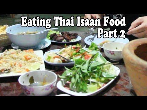 Eating Thai Food: Thai Isaan Food Pt 2. Som Tum Yok Krok Restaurant, Phang Nga Thailand