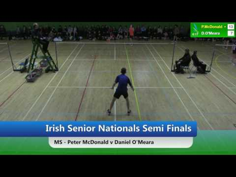 Irish U15 Nationals SF - MS - Peter McDonald v Daniel O'Meara