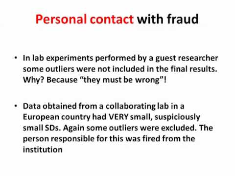 Fraud and plagiarism in biomedical research