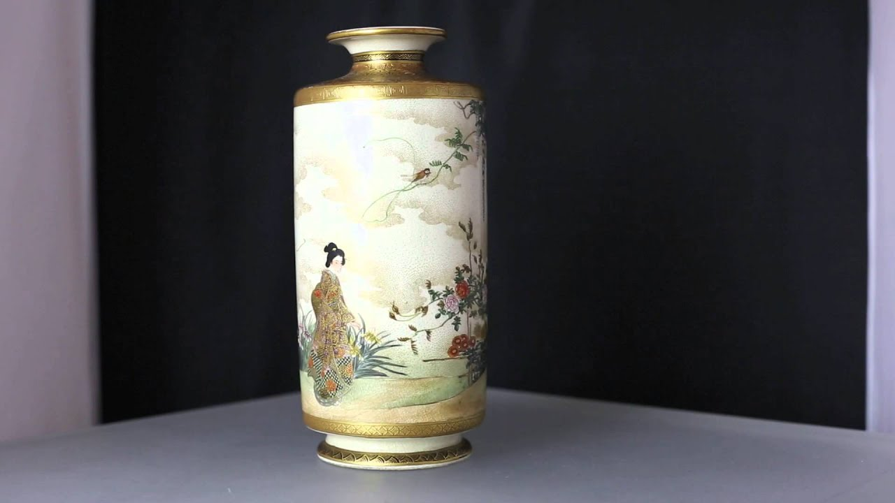 Japanese satsuma vase kinkozan zo meiji period youtube japanese satsuma vase kinkozan zo meiji period reviewsmspy