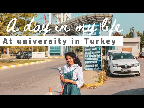 A day in my life as an international student in Turkey | College Vlog | School day