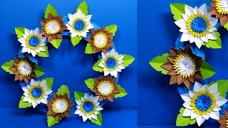 Paper Flower Beautiful Wall Decoration | Easy Handcraft Tutorial | Jarine's Crafty Creation