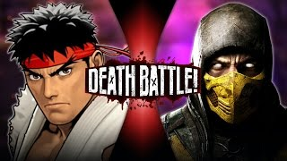 Ryu VS Scorpion (Street Fighter VS Mortal Kombat) | DEATH BATTLE!