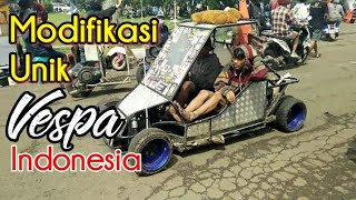 Modifikasi Unik - Vespa - Vespa extreme Indonesia di JSR Bandung