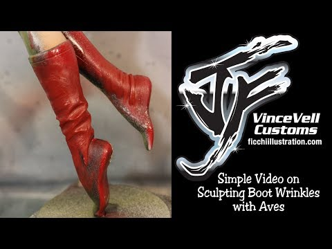 Simple Video on Sculpting Boot Wrinkles with Aves