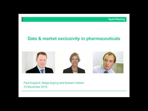 Data and market exclusivity in pharmaceuticals