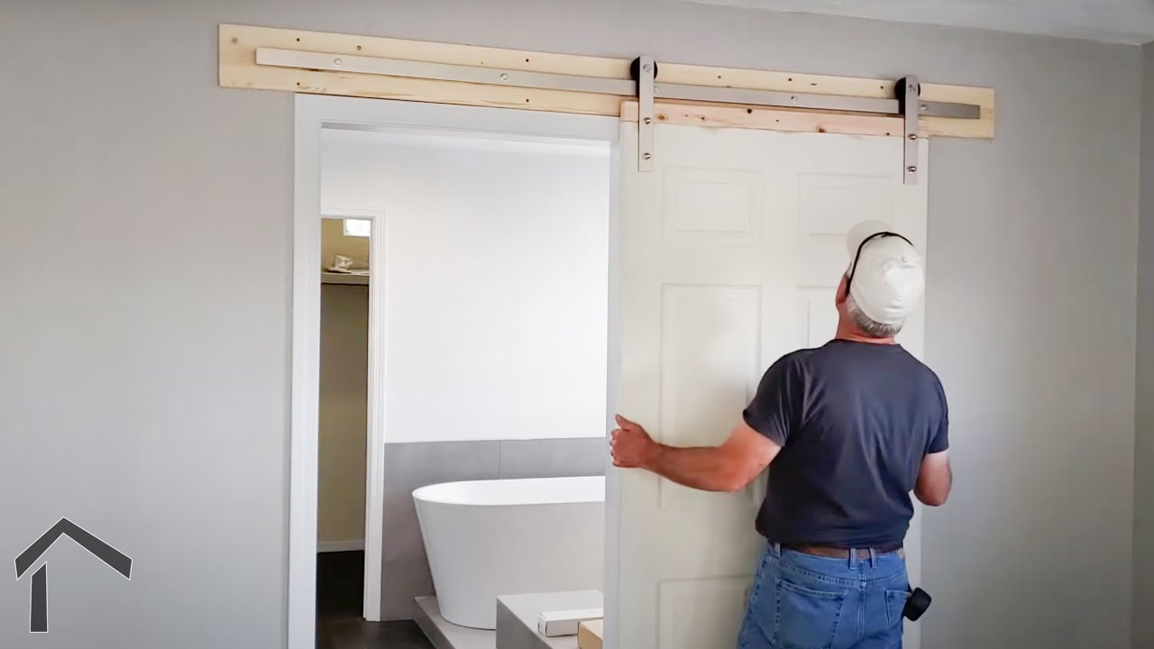 Installing A Barn Door On A Master Bathroom Youtube