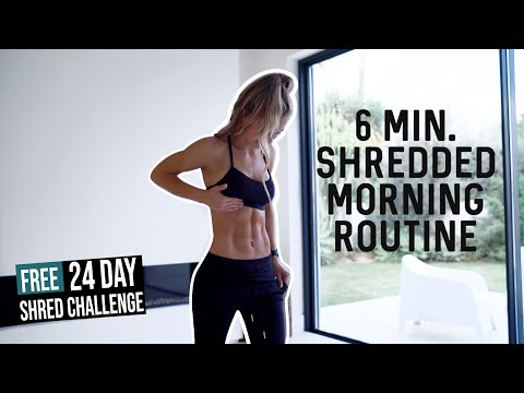 6 Min Fat Burning Ab Workout You Can Do Every Morning | 24 Day SHRED CHALLENGE