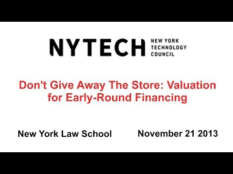 Don't Give Away The Store: Valuation for Early-Round Financing