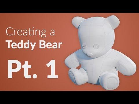 CGC Classic: Creating a Teddy Bear Pt. 1 - Modeling (Blender 2.4)