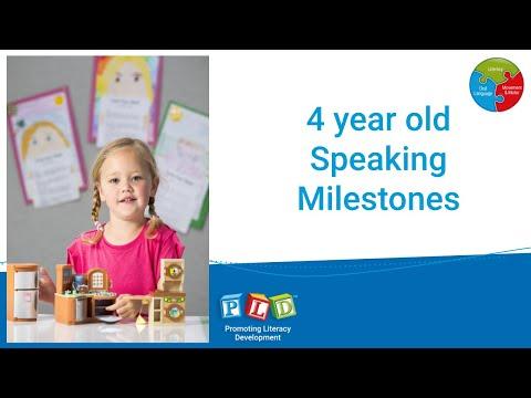 4 year old Speaking Milestones