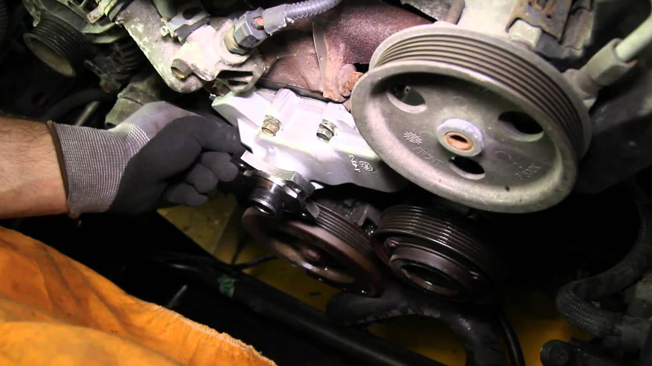 how to install a water pump jeep 4 0l 6 cyl wp 853 aw7136 youtube rh youtube com