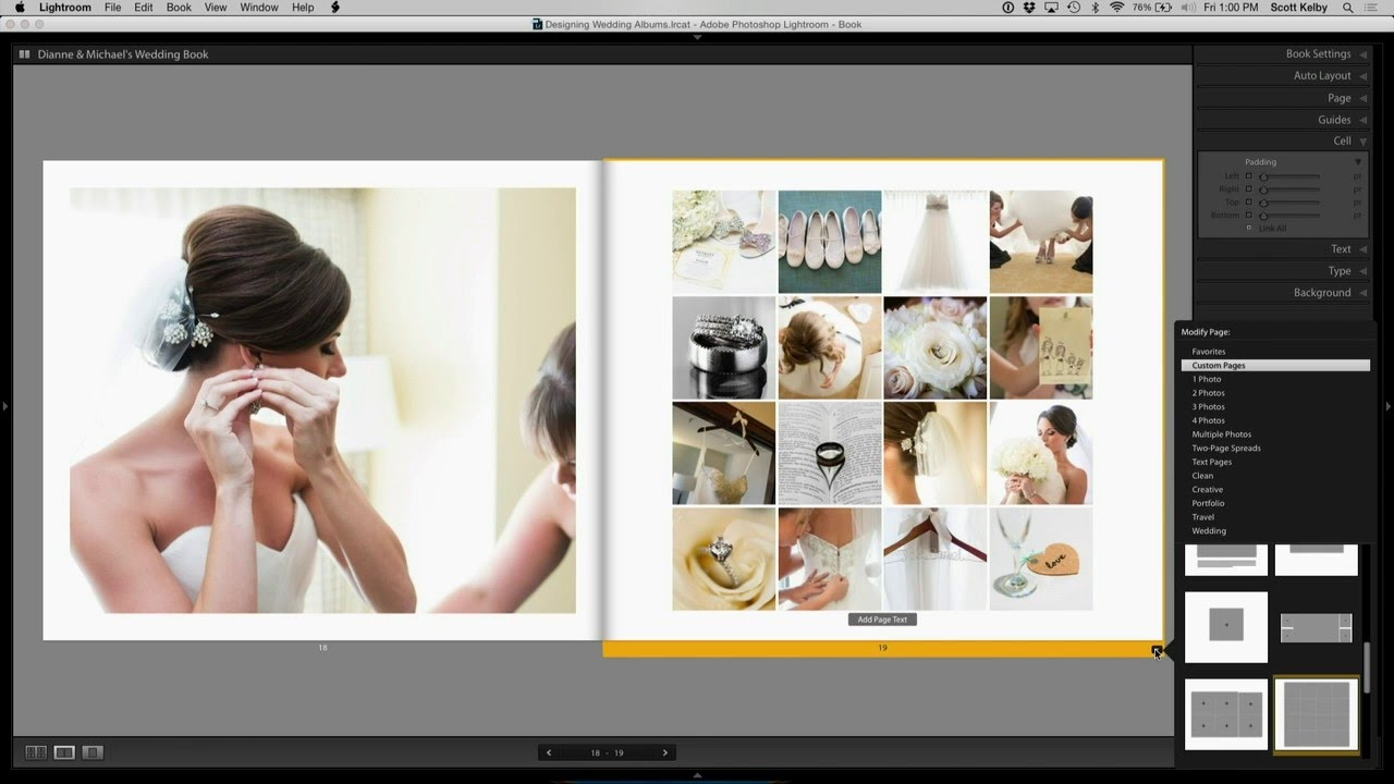 Wedding Album Design Course Excerpt Youtube