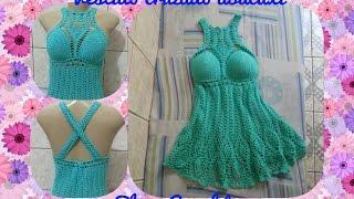 Vestido Cruzado Abacaxi Em Croch? ( 1? Parte ) # Elisa Croch?