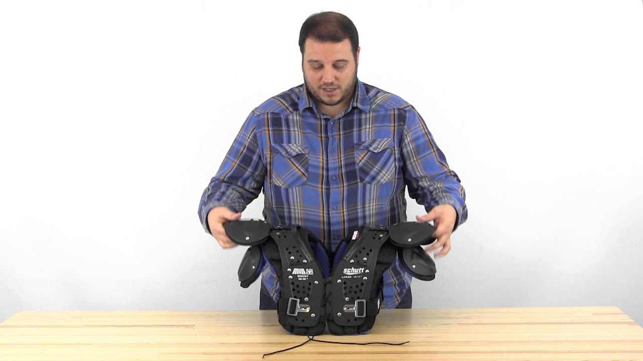 29bf5e490b1 Schutt Mid Flex 4.0 Youth Shoulder Pads - YouTube