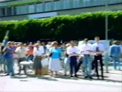 SD:s nationaldagsfirande på Norrmalmstorg 1992 - TV-inslag