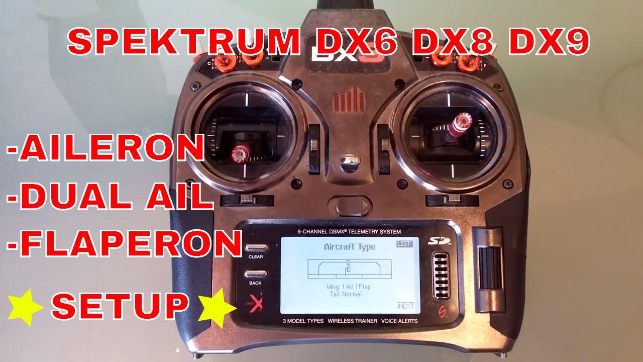 Spektrum dx7 flap setup