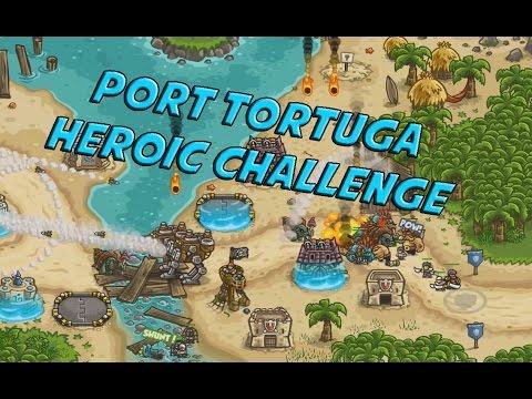Port Tortuga Veteran Heroic Challenge - Kingdom Rush Frontiers Rising Tides |