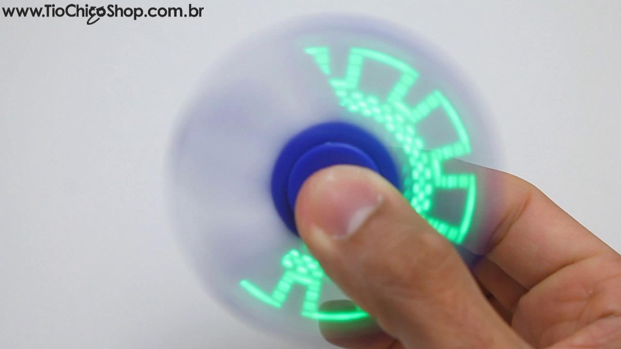 Fidget Hand Spinner Led Com Frases E Desenhos Tiochicoshop