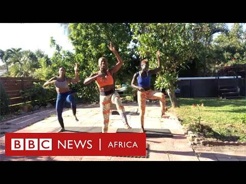Follow-along 5-minute African Dance workout with Kukuwa Fitness - BBC Africa